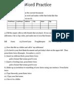 Ms excel practical exercises pdf