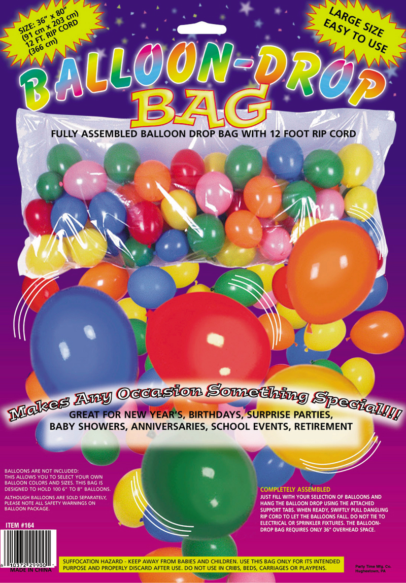 Balloon drop bag instructions