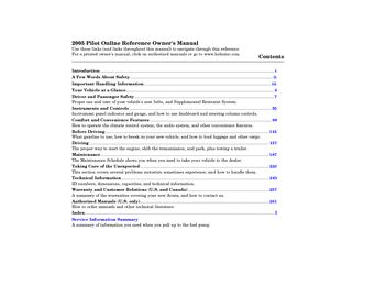 2005 honda pilot service manual pdf