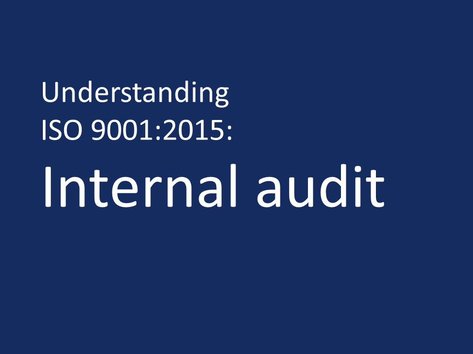 Iso 9001 2015 internal audit procedure pdf