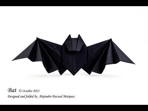 easy origami bat instructions