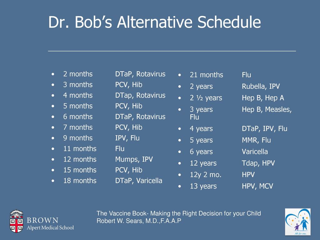 Dr sears delayed vaccine schedule pdf