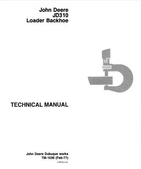 john deere 7 backhoe manual