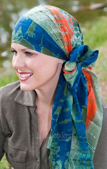cancer scarf tying instructions