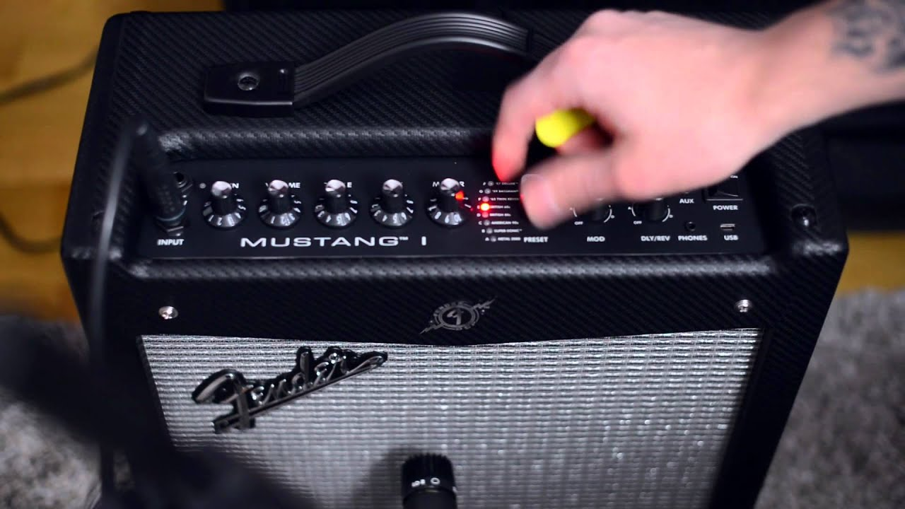 fender mustang 1 guitar amp manual