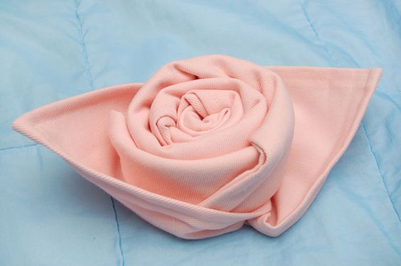 flower napkin folding instructions