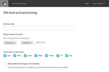 Mailchimp how to find rss feed