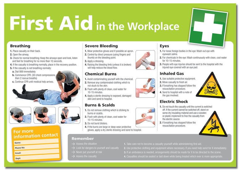 first aid at work manual
