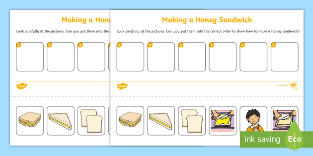 how to make a sandwich instructions ks2