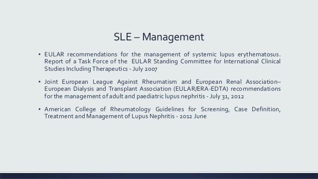 European guidelines of lupus nephritis