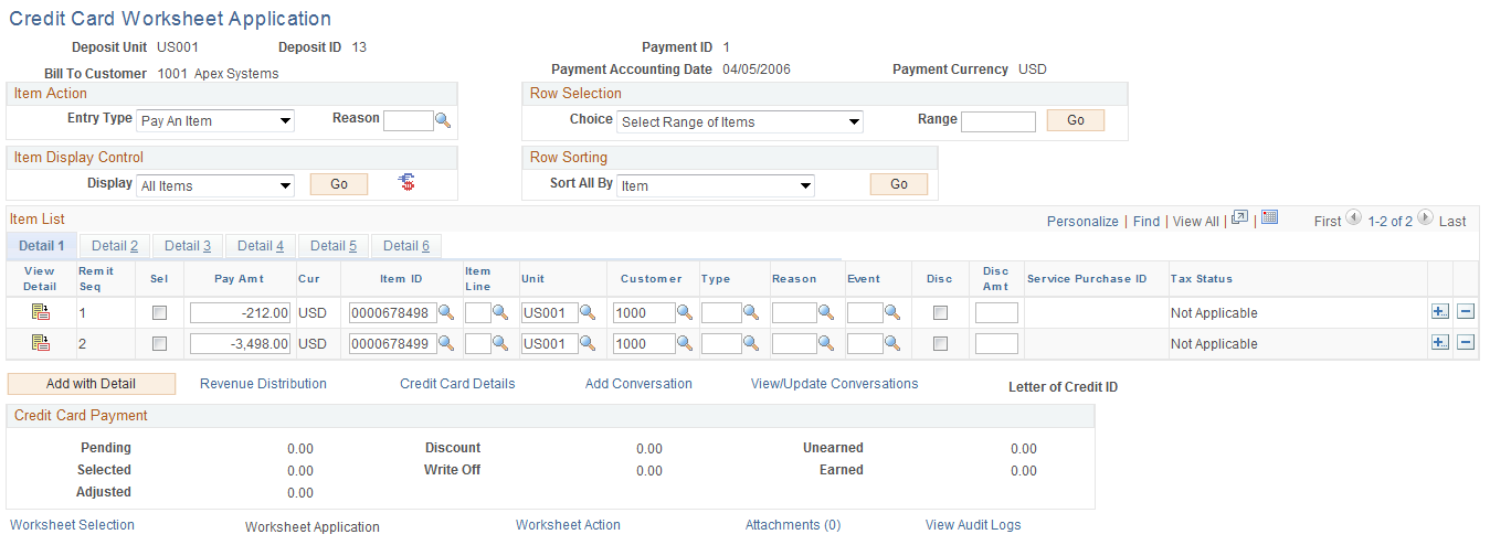 Credit card payment application rules