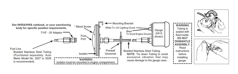 autometer nv oil pressure gauge install instructions