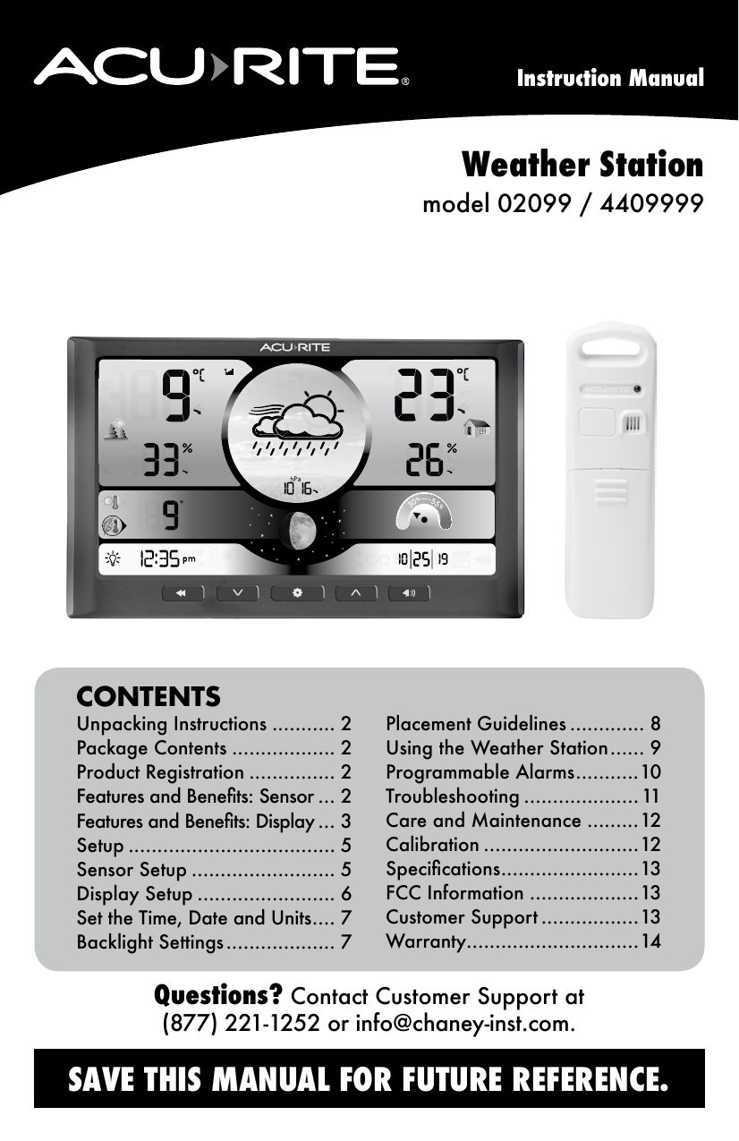 acurite weather station 02099 4409999 manual