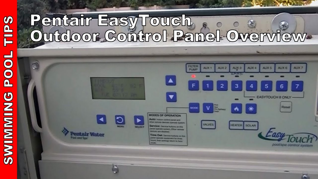 pentair easy touch control panel manual