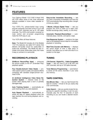 sanyo da4 head vcr manual