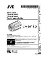 jvc everio gz mg130u manual