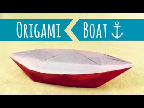 origami boat instructions video