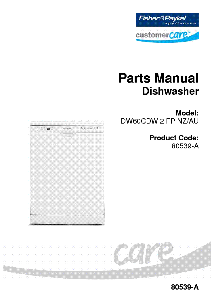 fisher and paykel dw681es manual