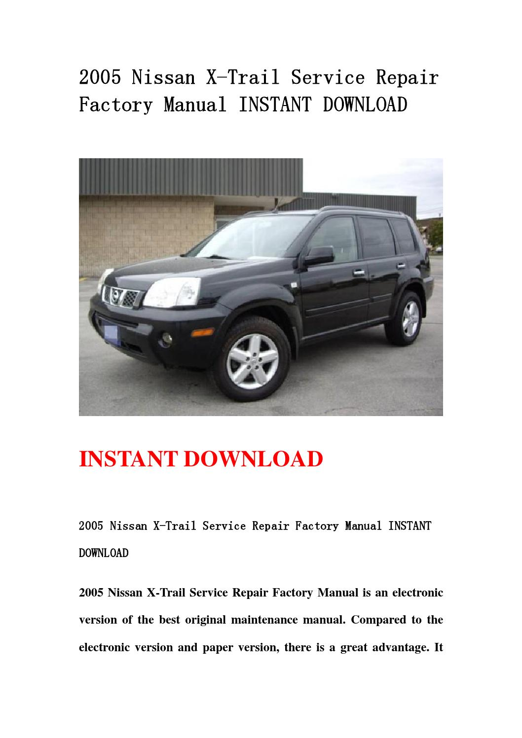 Nissan x trail manual download free