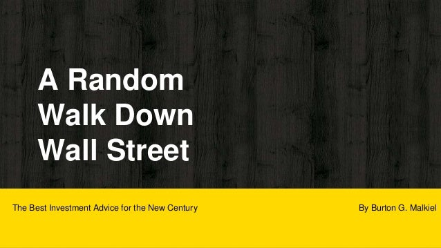 A walk down wall street pdf download