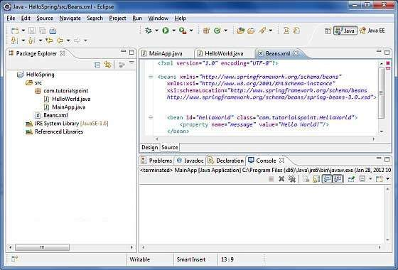Application context in java spring