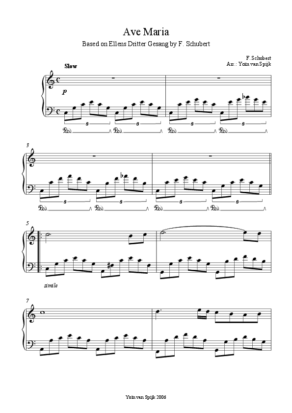 Ave maria schubert piano solo sheet music pdf