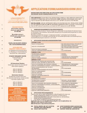Uj nsfas application form 2015
