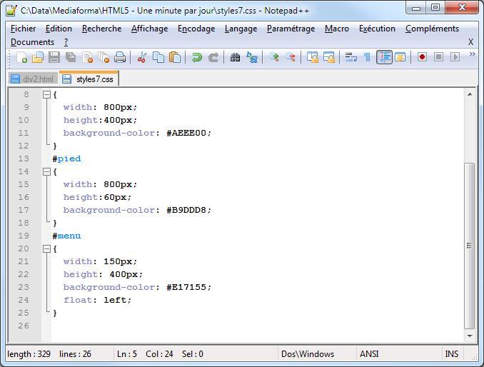 Liste des balises html5 et css3 pdf