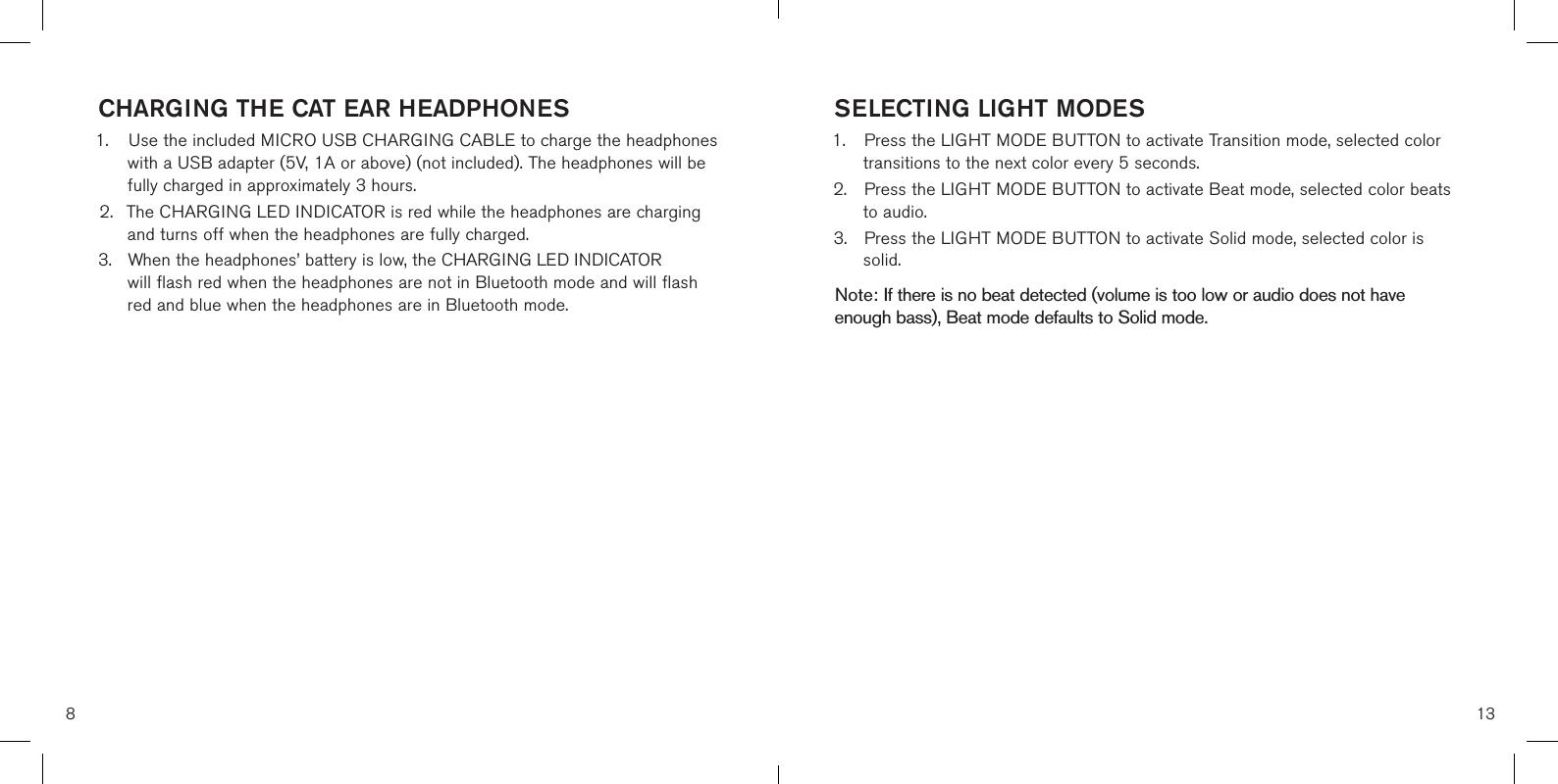Brookstone cat ear headphones manual
