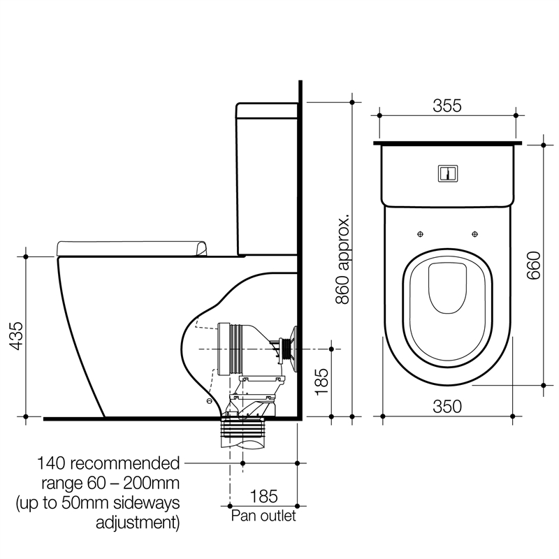 Toilet suite installation instructions
