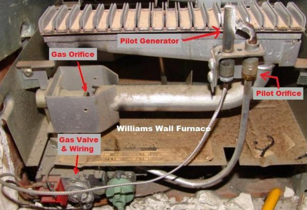 Williams wall heater pilot light instructions