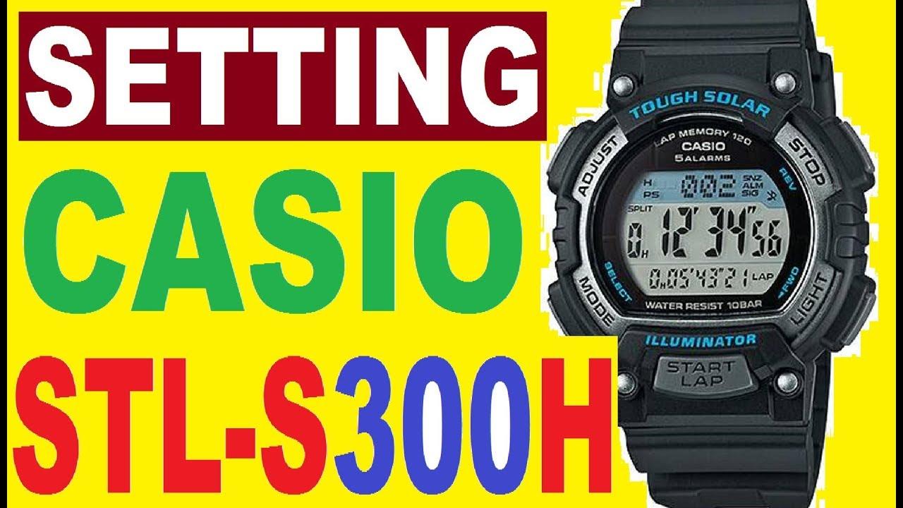 Casio illuminator manual set time