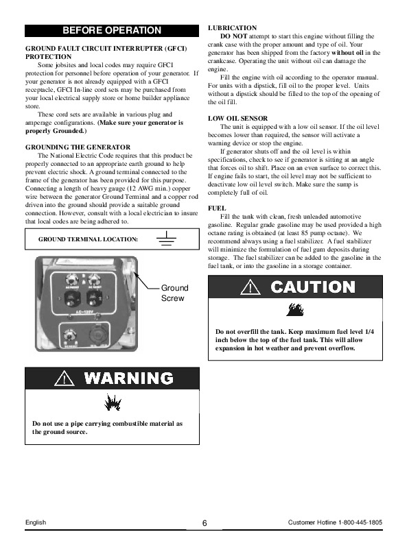 coleman powermate 6250 generator manual