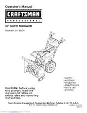 craftsman snowblower c459-52416 manual