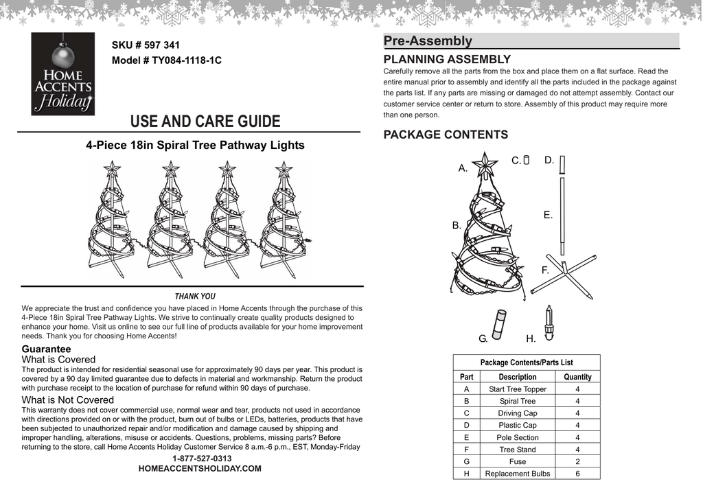 holiday collection christmas tree instructions