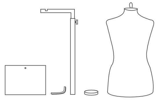 dress form assembly instructions