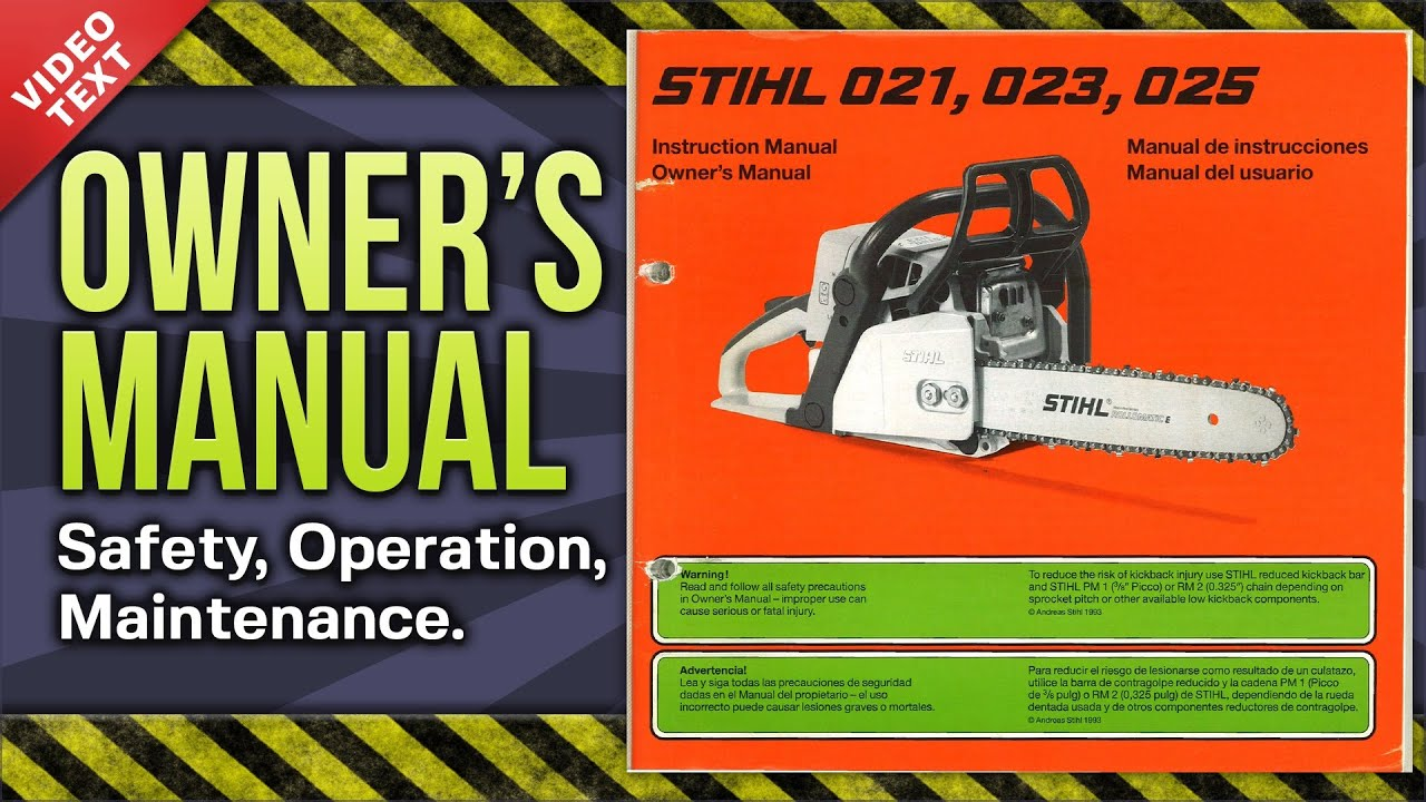 Stihl 025 chainsaw parts manual