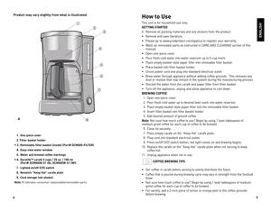 carlton coffee maker instruction manual