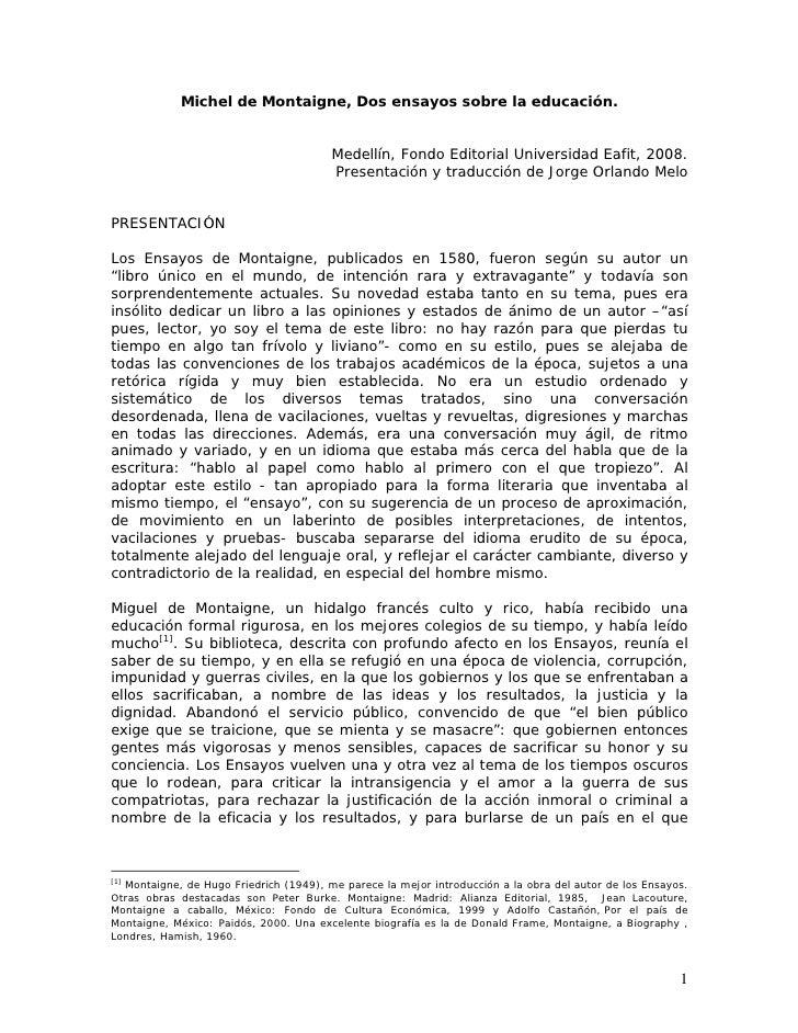 Los ensayos de montaigne pdf