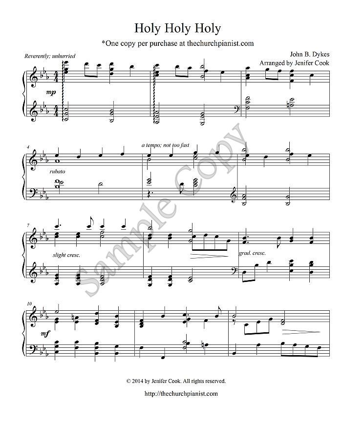 Free sacred piano sheet music pdf