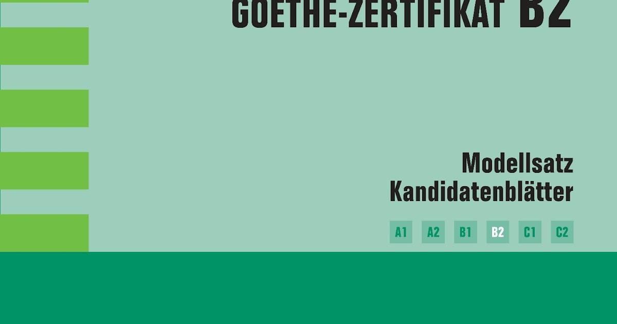 Goethe zertifikat a2 modellsatz pdf