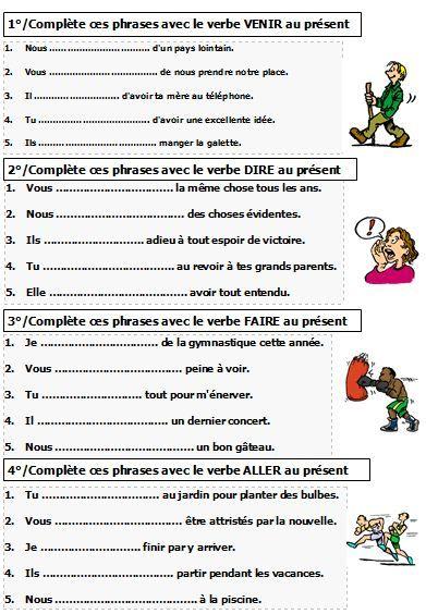 Les verbes au present pdf