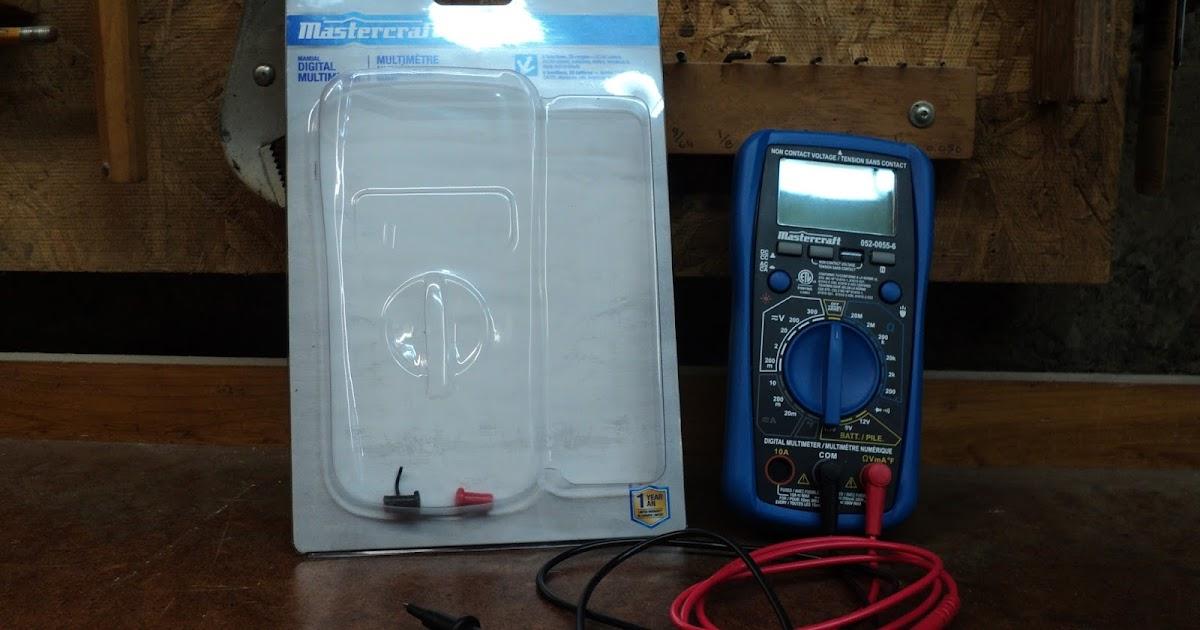 mastercraft digital multimeter manual 052 0055 6