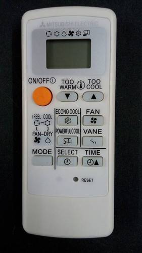Mitsubishi remote control manual air conditioner