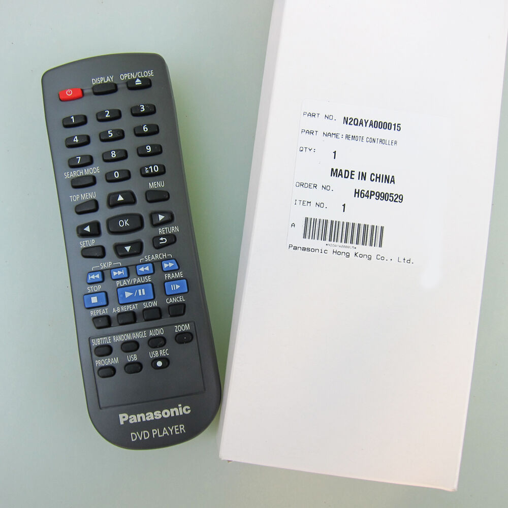panasonic dvd remote control instructions