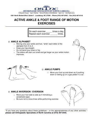 Passive range of motion exercises pdf