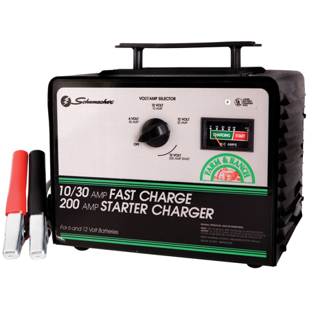 schumacher 200-amp manual car battery charger se-4020