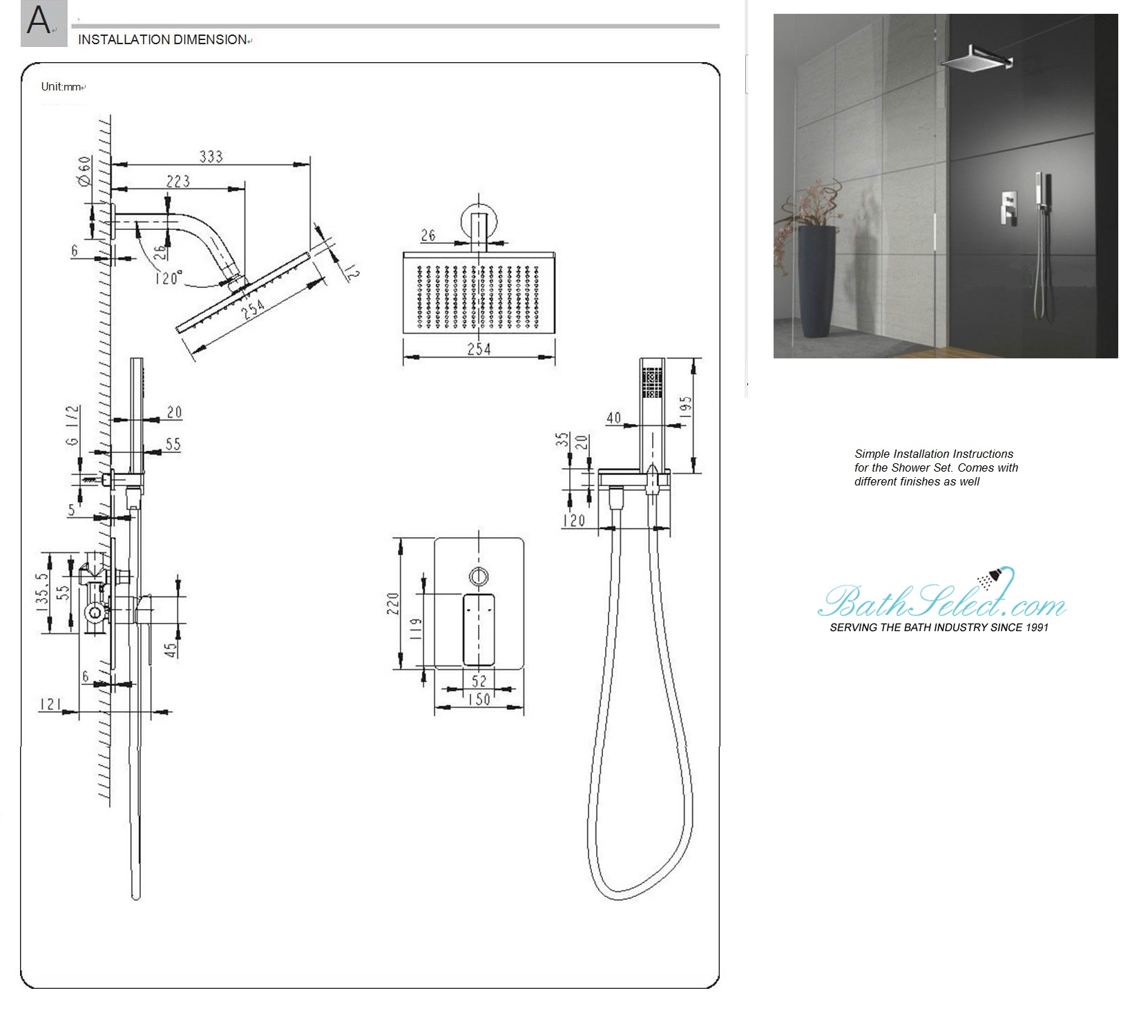 shower mixer installation instructions