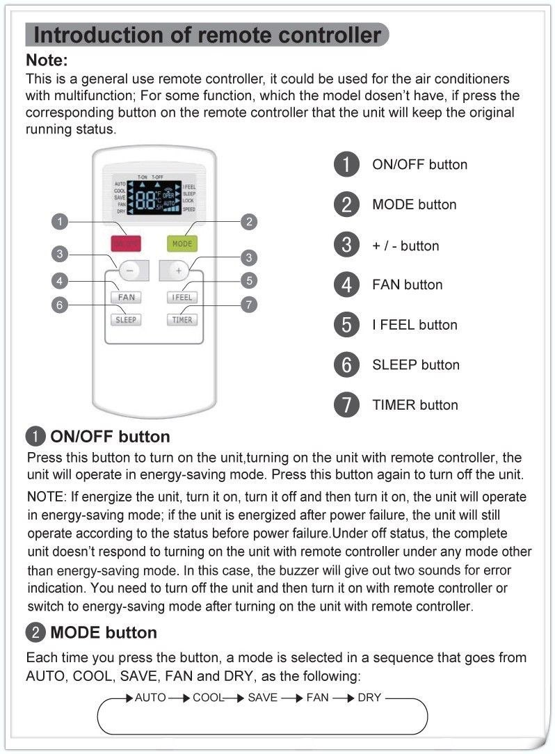 teco split system air conditioner manual