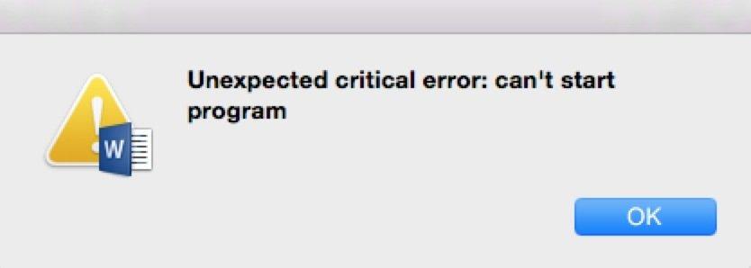 The application has encountered a critical error questrade